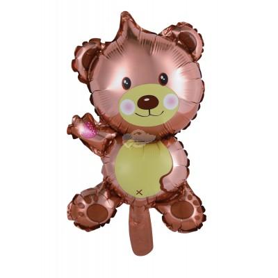 "Folienballon ""Teddy klein"" braun - nur Luftfüllung"