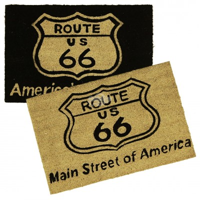 Fußmatte ''Route 66'' - versch. Farben