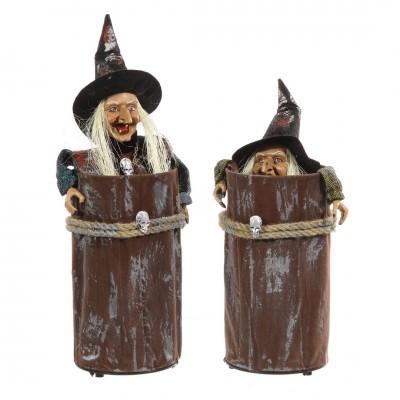 """Halloween Hexe """"Rabia"""" im Baumstamm versch. Farben wählbar"""