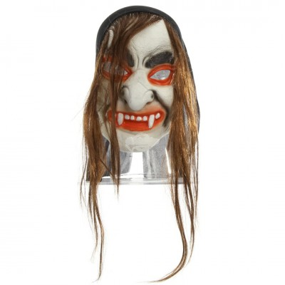 "Halloween Maske ""Vampir"" mit Haaren"
