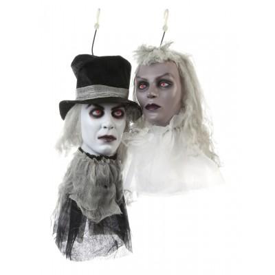 """Halloween Zombiekopf """"Brautpaar des Grauens"""""""" - versch. Designs"""