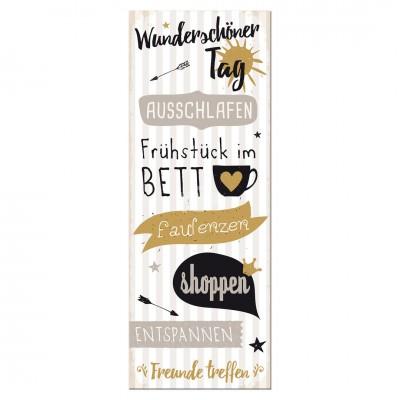 Holzbild ''Wunderschöner Tag''