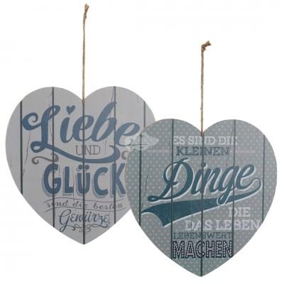 Holzbild in Herzform - versch. Designs
