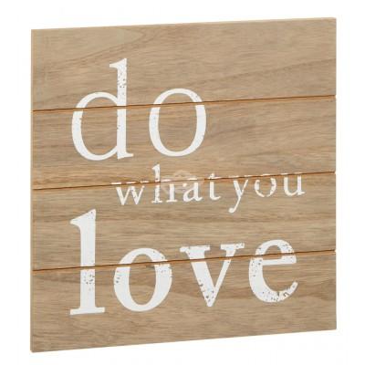 "Bild ""Do what you love"", ca. 24x24cm"