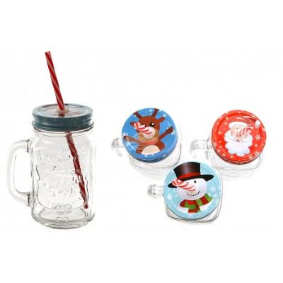 """Trinkglas """"Weihnachten"""" versch. Motive"""