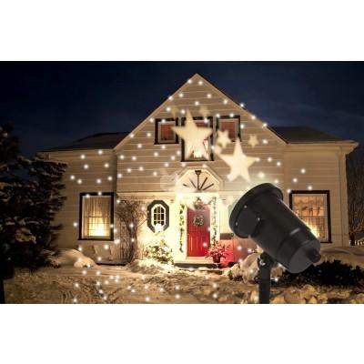 LED Projektor, warmweiße Sterne