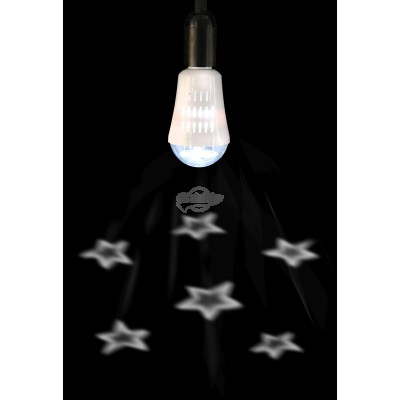 "LED Projektor Birne ""Sterne"" warmweiß"