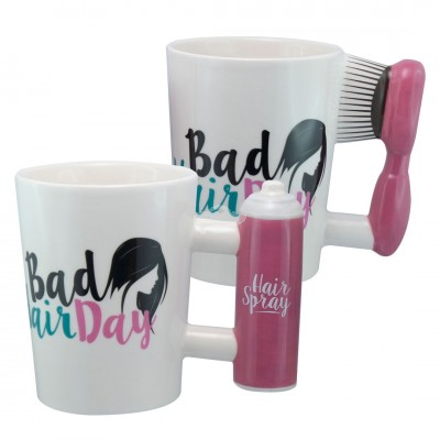 "Becher ""Bad Hair"", 350 ml, 9x10,5cm versch. Design wählbar"