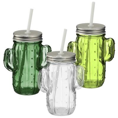 Trinkglas ''Kaktus'' - versch. Farben