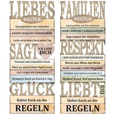 """Bild """"Familien & Liebes Regeln"""" versch. Designs"""