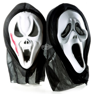 "Maske ""Vampir oder Scream"" - versch. Designs"
