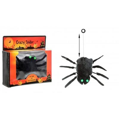 """Halloween Spinne """"Crazy"""" - 20 cm Licht Sound und Bewegung"""