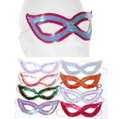 """Maske """"Venedig"""" Pailletten - versch. Farben"""