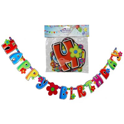 "Geburtstags - Girlande ""Happy Birthday"""