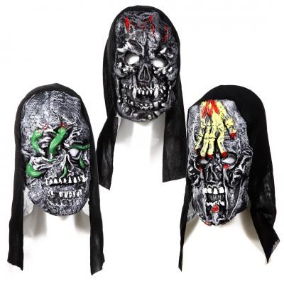 "Halloween Maske ""Totenkopf"" - versch. Motive"