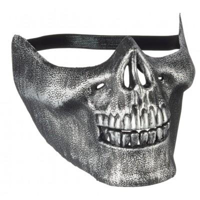 "Halloween Maske ""Skelett"" halb"