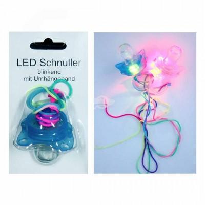 Blinkender Schnuller - versch. Farben