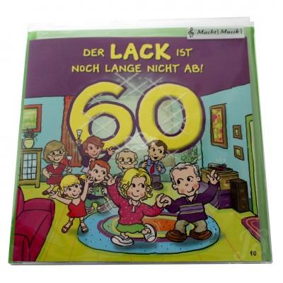 """Musikkarte """"Archies Musikkarte 60 Der Lack ist noch lange nicht ab"""""""
