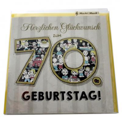 """Musikkarte """"Archies Musikkarte Herzlichen Glückwunsch zum 70. Geburtstag """""""