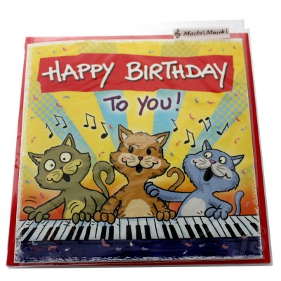 "Musikkarte ""Archies Katze Happy Birthday to you"""
