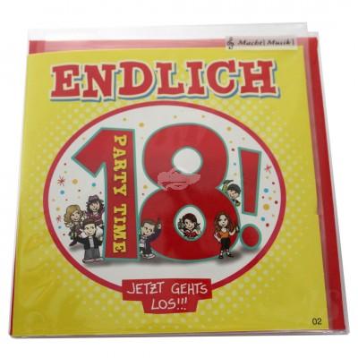 """Musikkarte """"Archies Endlich 18 Jetzt gehts los"""""""