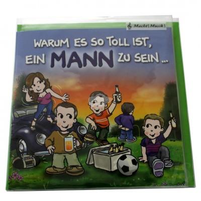 """Musikkarte """"Archies Geburtstag Toll ein Mann zu sein"""""""