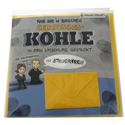 """Musikkarte """"Archies Geburtstagskohle ist steuerfrei"""""""