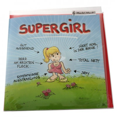 "Musikkarte ""Archies Supergirl"""
