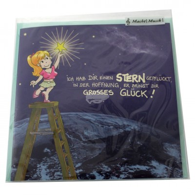 """Musikkarte """"Archies Geburtstag Stern geflückt, großes Glück"""""""
