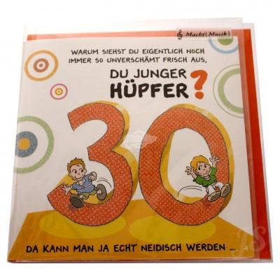 """Musikkarte """"Archies Musikkarte 30 Du junger Hüpfer"""""""