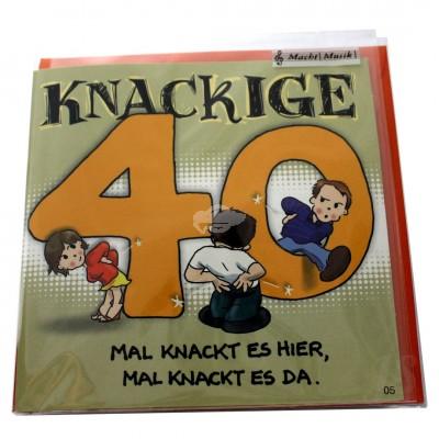 "Musikkarte ""Archies Musikkarte knackige 40"""