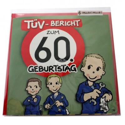 """Musikkarte """"Archies Musikkarte TÜV-Bericht zum 60. Geburtstag"""""""