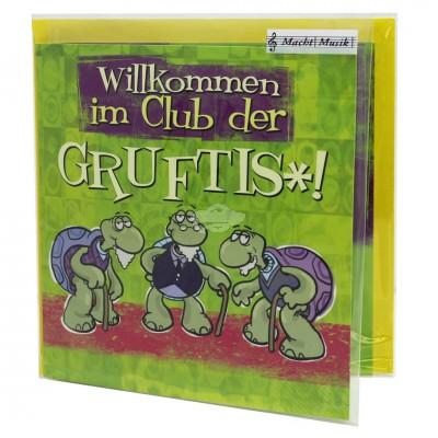 """Hit Mix Klappkarten """"Willkommen im Club der Gruftis"""""""