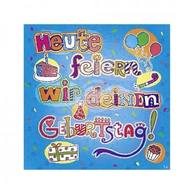 """Hit Mix Klappkarten """"Heute feiern wir deinen Geburtstag"""""""
