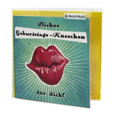 "Hit Mix Klappkarten ""Geburtstags-Küsschen"""