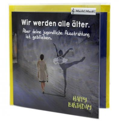 """Hit Mix Klappkarten """"Wir werden alle älter"""""""