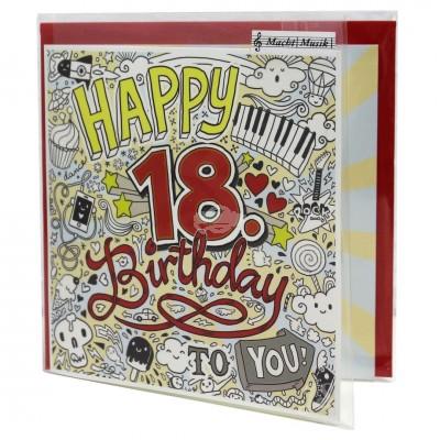 "Hit Mix Klappkarten ""18 Happy Birthday to you!"""