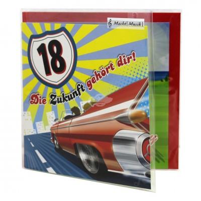 """Hit Mix Klappkarten """"18 - die Zukunft gehört dir"""""""