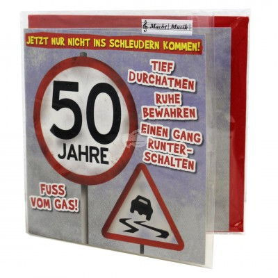 "Hit Mix Klappkarten ""50 - Fuß vom Gas"""