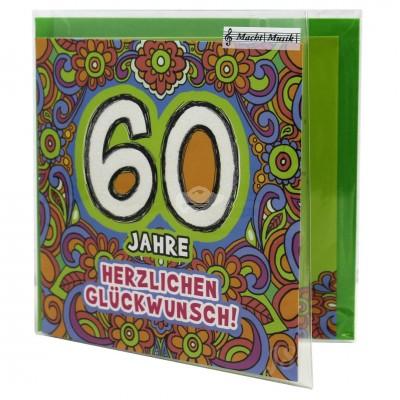 """Hit Mix Klappkarten """"60 Jahre - Herzlichen Glückwunsch"""""""