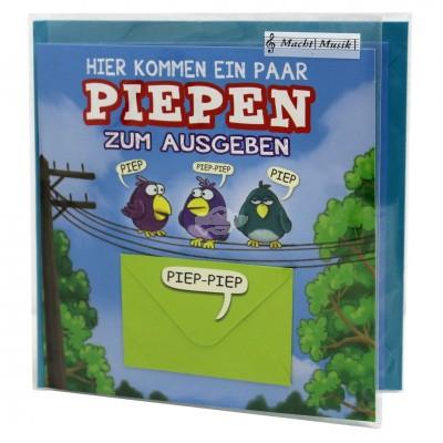 """Hit Mix Klappkarten """"Piepen zum Ausgeben"""""""