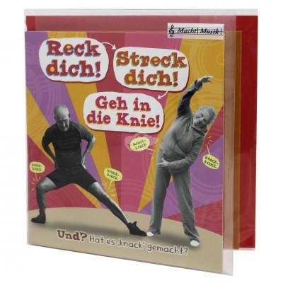 "Hit Mix Klappkarten ""Reck dich Streck dich"""
