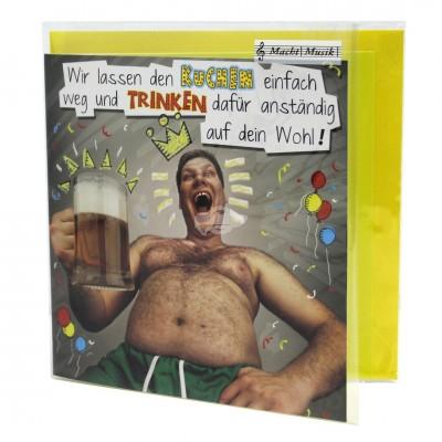 """Hit Mix Klappkarten """"Wir lassen den Kuchen einfach weg"""""""