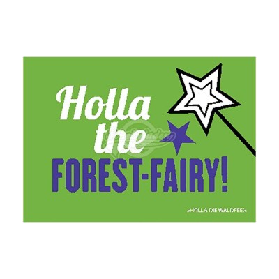 "Postkarte Forbetter Your English ""Holla the forest-fairy"""