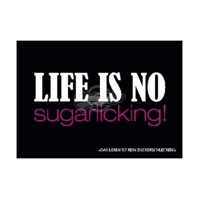 "Postkarte Forbetter Your English ""Life is no sugarlicking"""
