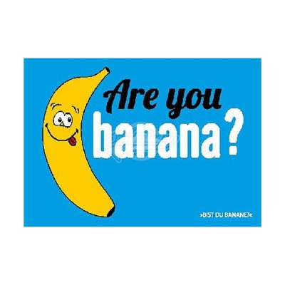 "Postkarte Forbetter Your English ""Are you banana"""