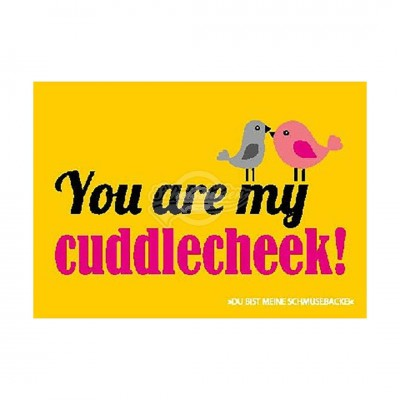 "Postkarte Forbetter Your English ""You are my cuddlecheek"""