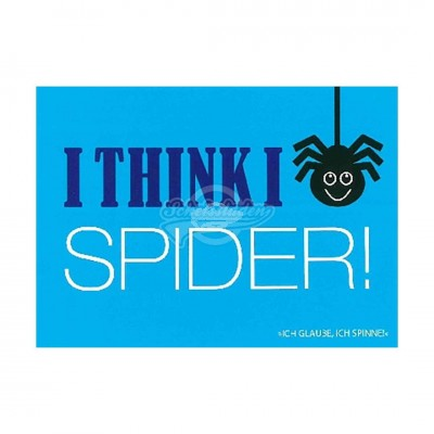 "Postkarte Forbetter Your English ""I think I spider"""