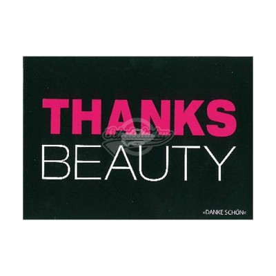 "Postkarte Forbetter Your English ""THANKS BEAUTY"""
