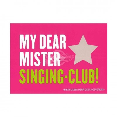 "Postkarte Forbetter Your English ""My dear mister singing-club"""